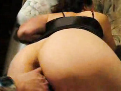 Chunky mature wife fingered in asshole to orgasm