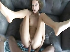 Skinny slut wife sodomized POV and creampied