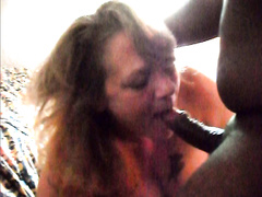 BBC anal sex and ass to mouth for mature white BBW