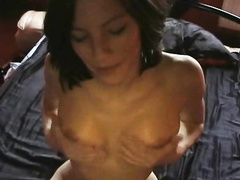 Attractive girlfriend fingered and fucked in the butthole