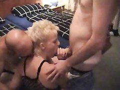 Cock hungry milf double penetrated by 2 strangers