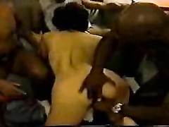 Milf whore wife gangbanged and double penetrated by BBC's
